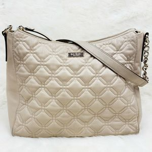 Kate Spade Gold Coast Tan Leather Quilted Hobo